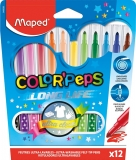 Carioci Color Peps Long Life 12 culori/set Maped