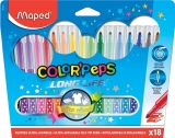 Carioci Color Peps Long Life 18 culori/set Maped