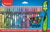 Carioca Color Peps Monster, 24 culori/set, Maped