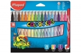 Carioci 18 culori Color Peps Jungle Maped