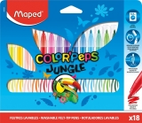 Carioci Color Peps Jungle 18 culori/set Maped