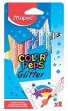 Carioca Color Peps Glitter 8 culori/set Maped