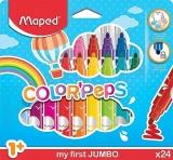 Carioca Color Peps My First Jumbo, 24 culori/set, Maped