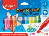 Carioca Color Peps Mini Power 12 culori/set  Maped