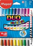 Carioci 10/set cu 2 capete Color Peps Duo Maped