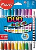 Carioci 10/set cu 2 capete Color Peps Duo Maped