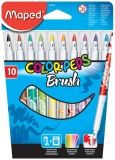Marker caligrafic Color Peps Brush 10 culori/set Maped