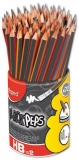 Creion cu guma 72 bucati HB Maped