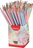 Creioane cu guma Black Peps Pastel HB 72 buc/set Maped