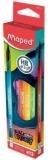 Creion grafit HB cu guma de sters, 12 buc/set, Black Peps Energy Maped