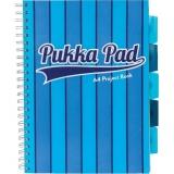 Caiet A4 cu spirala si separatoare, 100 file, dictando, Project Book Vogue albastru Pukka Pads