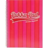 Caiet A4 cu spirala, 100 file, dictando, Vogue, culoare roz Pukka Pads