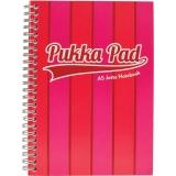 Caiet A5 cu spirala, 100 file, dictando, Vogue, culoare roz Pukka Pads