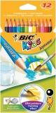 Creioane colorate 12 culori Aquacouleur Bic