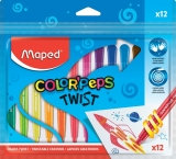 Creioane cerate Color Peps Twist 12 culori/set Maped