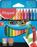 Creioane cerate colorate Color Peps Mini Wax, 12 culori/set, Maped