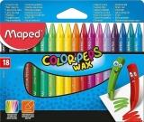Creioane cerate colorate Color Peps Mini Wax, 18 culori/set, Maped
