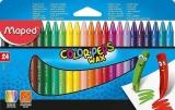 Creioane cerate colorate Color Peps Mini Wax, 24 culori/set, Maped