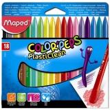 Creioane cerate 18 culori Plasticlean Maped