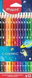 Creioane colorate Cosmic Kids 12 culori/set Maped