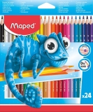 Creioane colorate Pulse 24 culori/set Maped