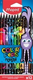 Creioane colorate Color Peps Monsters 12 culori/set Maped
