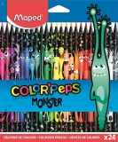 Creioane colorate Color Peps Monsters 24 culori/set Maped