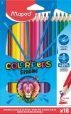 Creioane colorate Colors Peps Strong 18 culori/set Maped