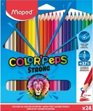 Creioane colorate Colors Peps Strong 24 culori/set Maped