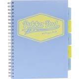 Caiet cu spira si separatoare A4, 100 file, dictando, Project Book Pastel Pukka Pads