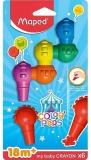 Creioane cerate, din plastic, Color Peps Baby, 6 culori/set, Maped