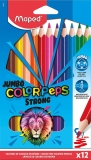 Creioane colorate Colors Peps Strong Jumbo 12 culori/set Maped
