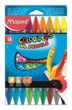 Creioane cerate 18 culori pe baza de ulei Maped