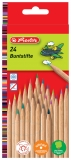 Creioane color natur 1/1 24 buc/set Herlitz