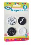 Magneti alb-negru 4/set Centrum