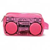 Geanta Le Boombox Doppler cu difuzoare roz Fydelity
