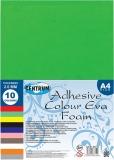 Spuma EVA adeziva colorata, 2 mm, A4, 10 culori/set Centrum