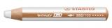 Creion colorat Woody alb Stabilo