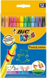 Creioane cerate Turn & Colour 12 buc/set Bic
