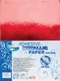 Hartie metalica adeziva A4, 200 g/m, 10 culori/set Centrum