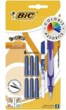 Stilou Easy Clic Standard, diverse culori + 6 patroane cerneala + 1 mini PIC Bic