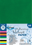 Hartie de catifea adeziva A4 140 g/m 10 culori/set Centrum