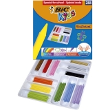 Creioane cerate Kids Plastidecor 288 buc/set Bic