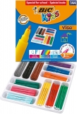 Carioci lavabile Kids Visa 144 buc/set Bic