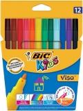 Carioci 12 culori lavabile Visa Bic