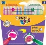Carioci 12 culori Mini Colour&Create Bic