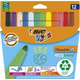 Carioci lavabile, Visa Color XL, 12 buc/set, Bic