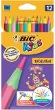 Creioane colorate. Evolution Circus, 12 culori/set, Bic