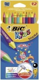 Creioane colorate 12 culori Evolution Circus Bic
