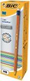 Cutie creion cu guma 12 bucati Evolution Stripes 646 Bic